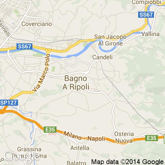 Mappa di Bagno a Ripoli, Cartine Stradali e Foto Satellitari