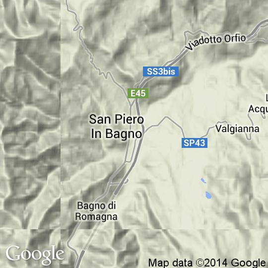 Mappa di Bagno di Romagna, Cartine Stradali e Foto Satellitari