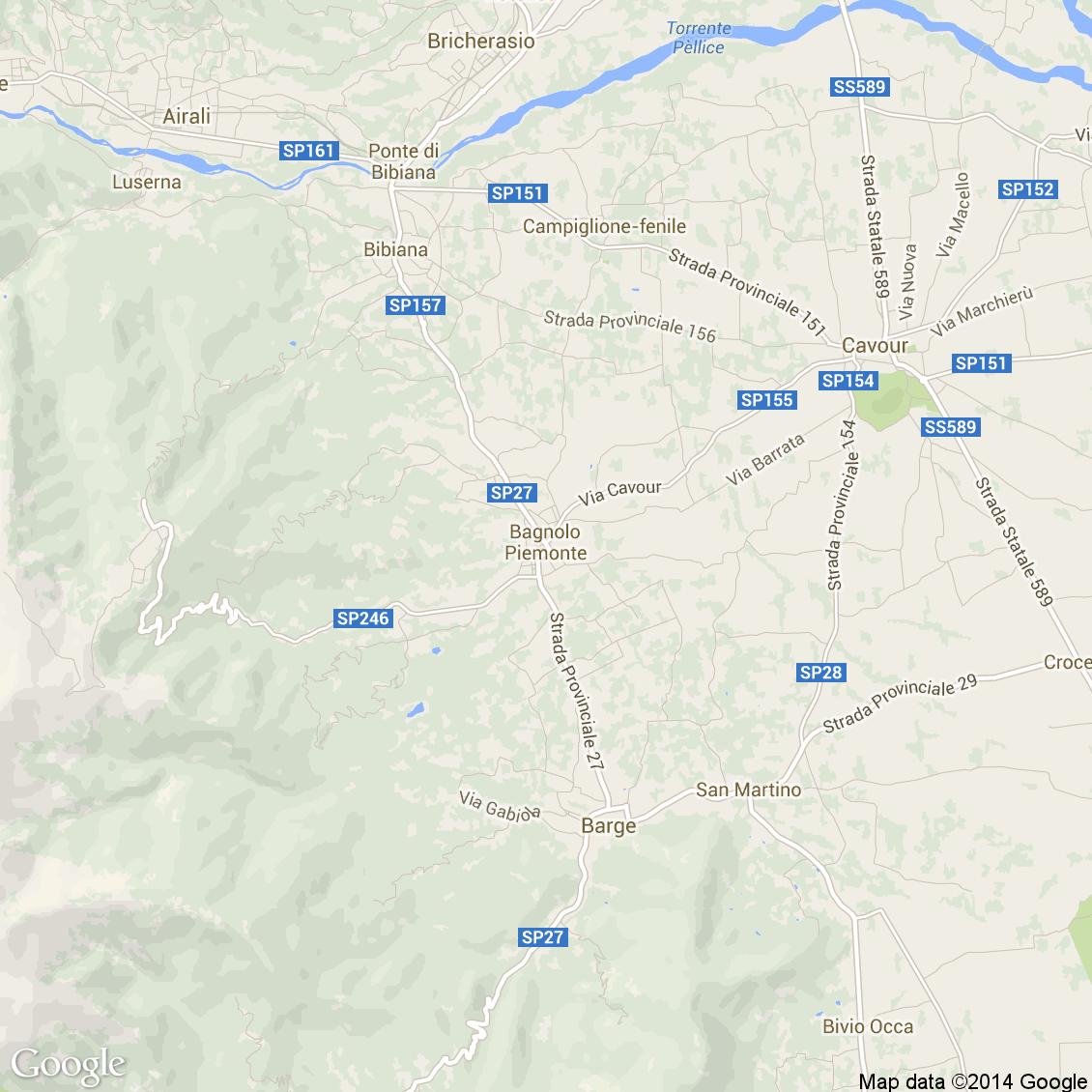 Piemonte Cartina Stradale.Foto Dall Alto Delle Strade Del Comune Di Bagnolo Piemonte Media E Alta Risoluzione