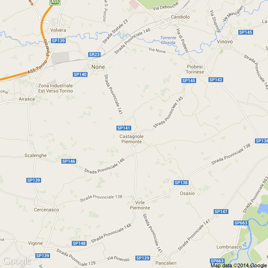 Piemonte Cartina Stradale.Foto Dall Alto Delle Strade Del Comune Di Castagnole Piemonte Media E Alta Risoluzione