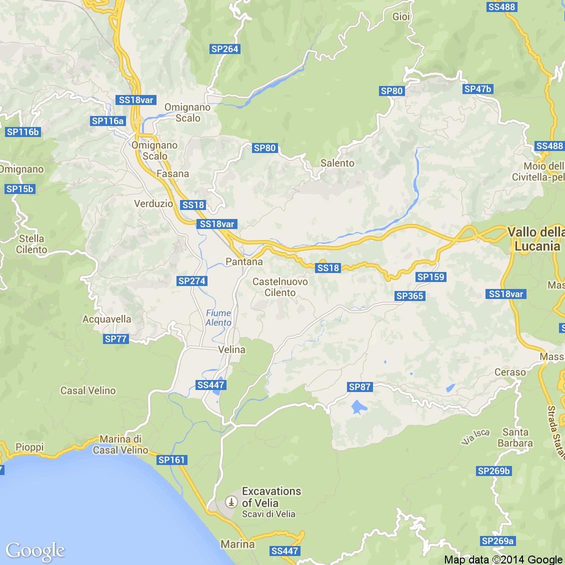 Cartina Stradale Cilento.Foto Dall Alto Delle Strade Del Comune Di Castelnuovo Cilento Media E Alta Risoluzione