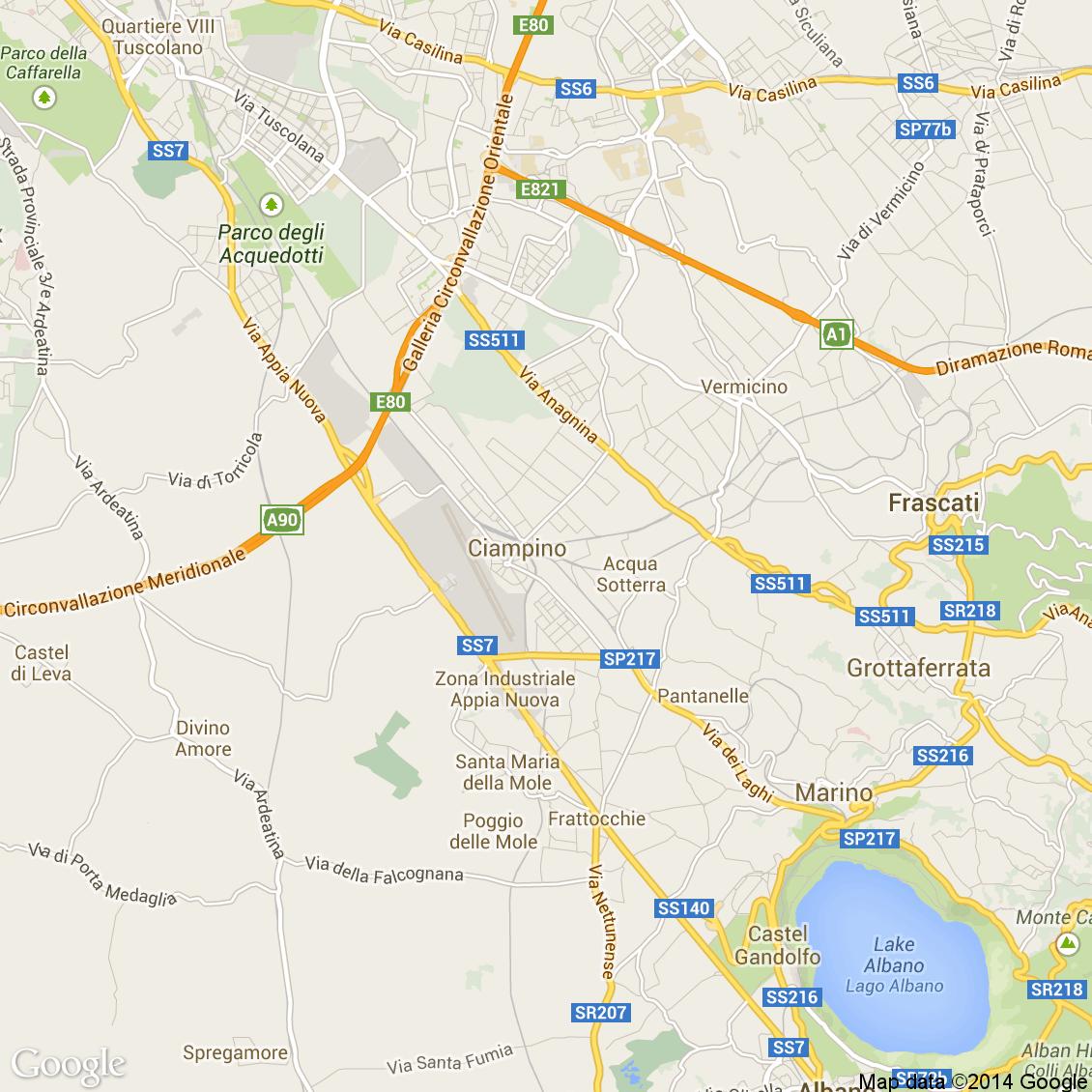 Cartina Roma Ciampino.Foto Dall Alto Delle Strade Del Comune Di Ciampino Media E Alta Risoluzione