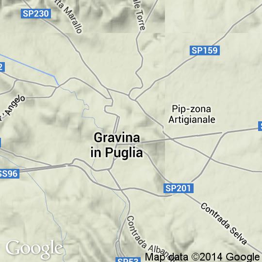 Cartina Di Gravina In Puglia.Mappa Di Gravina In Puglia Cartine Stradali E Foto Satellitari
