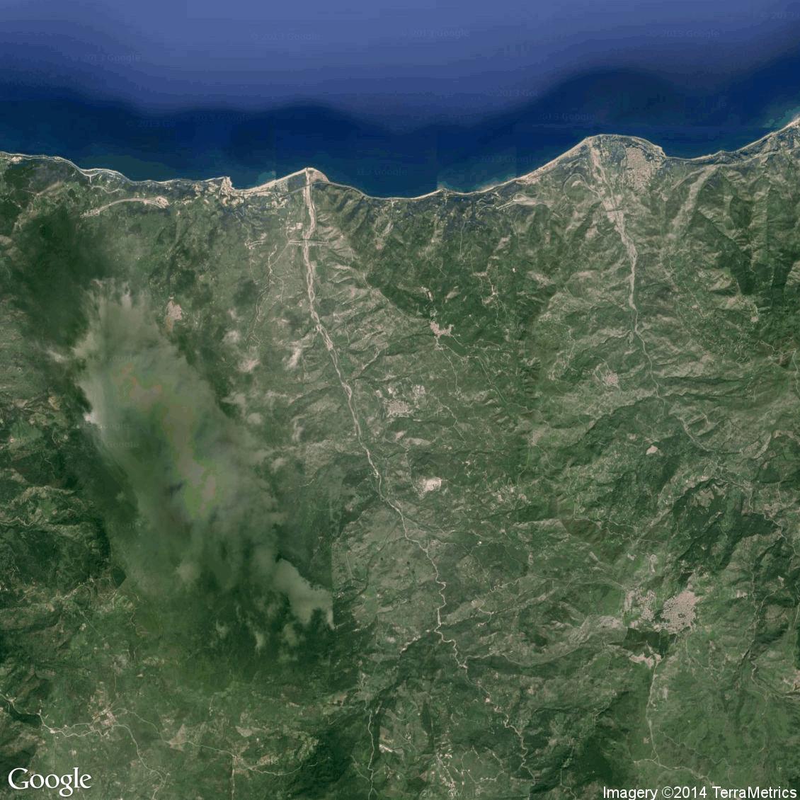 Foto aerea del Pettineo vista satellite