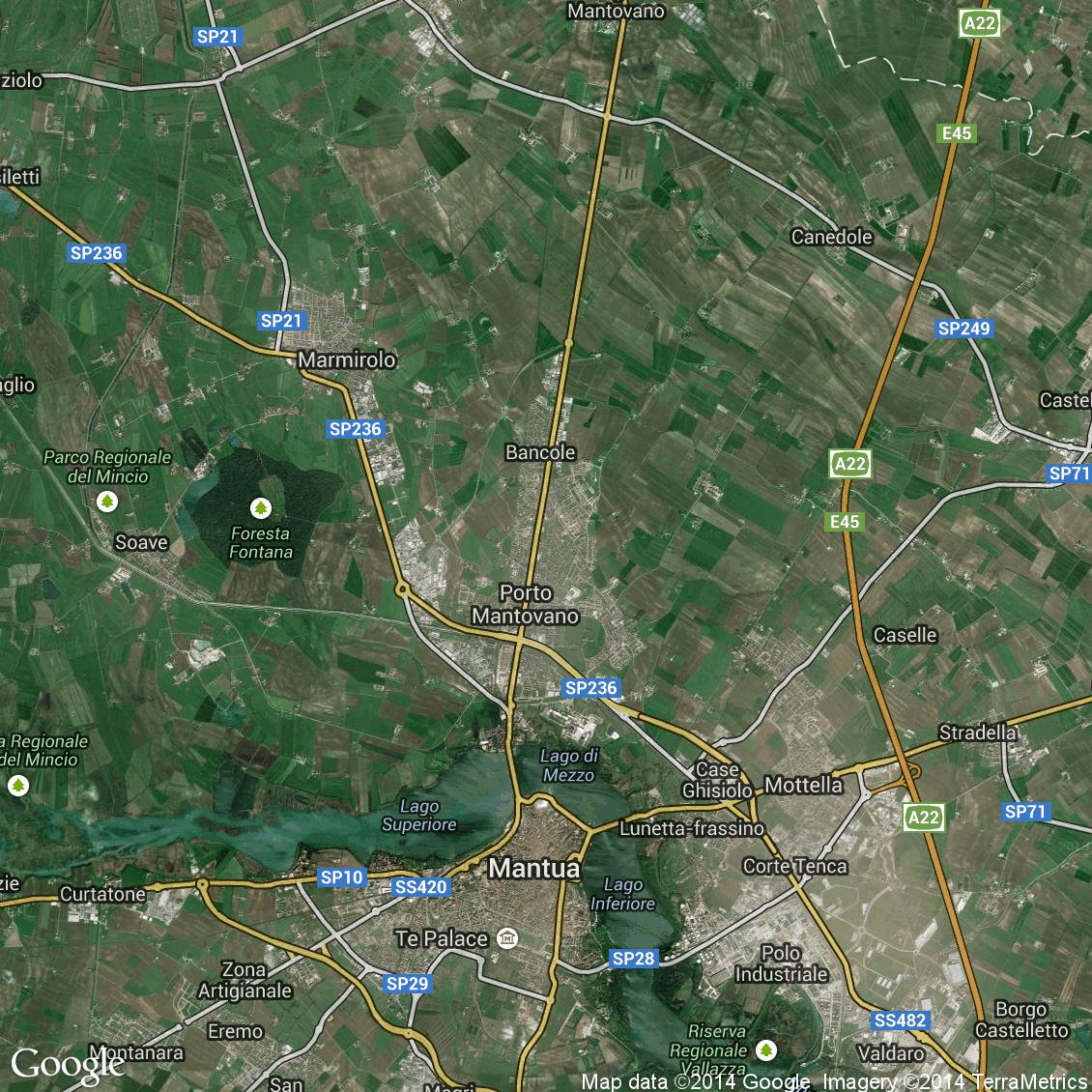 Foto hibrida aerea del comune di porto mantovano con - Porta mantovana ...