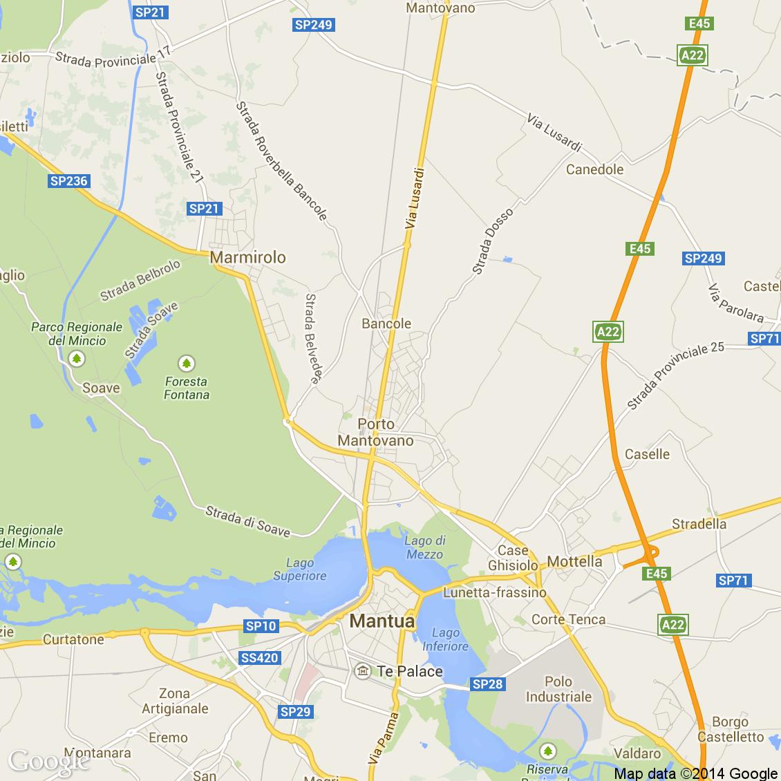Foto dall 39 alto delle strade del comune di porto mantovano - Porta mantovana ...