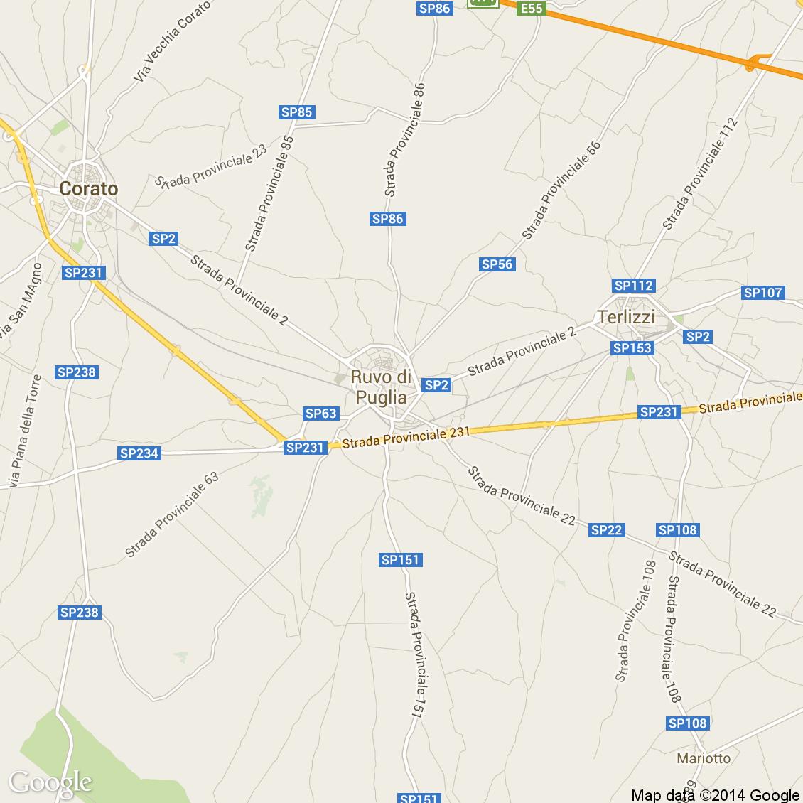 Cartina Ruvo Di Puglia.Foto Dall Alto Delle Strade Del Comune Di Ruvo Di Puglia Media E Alta Risoluzione
