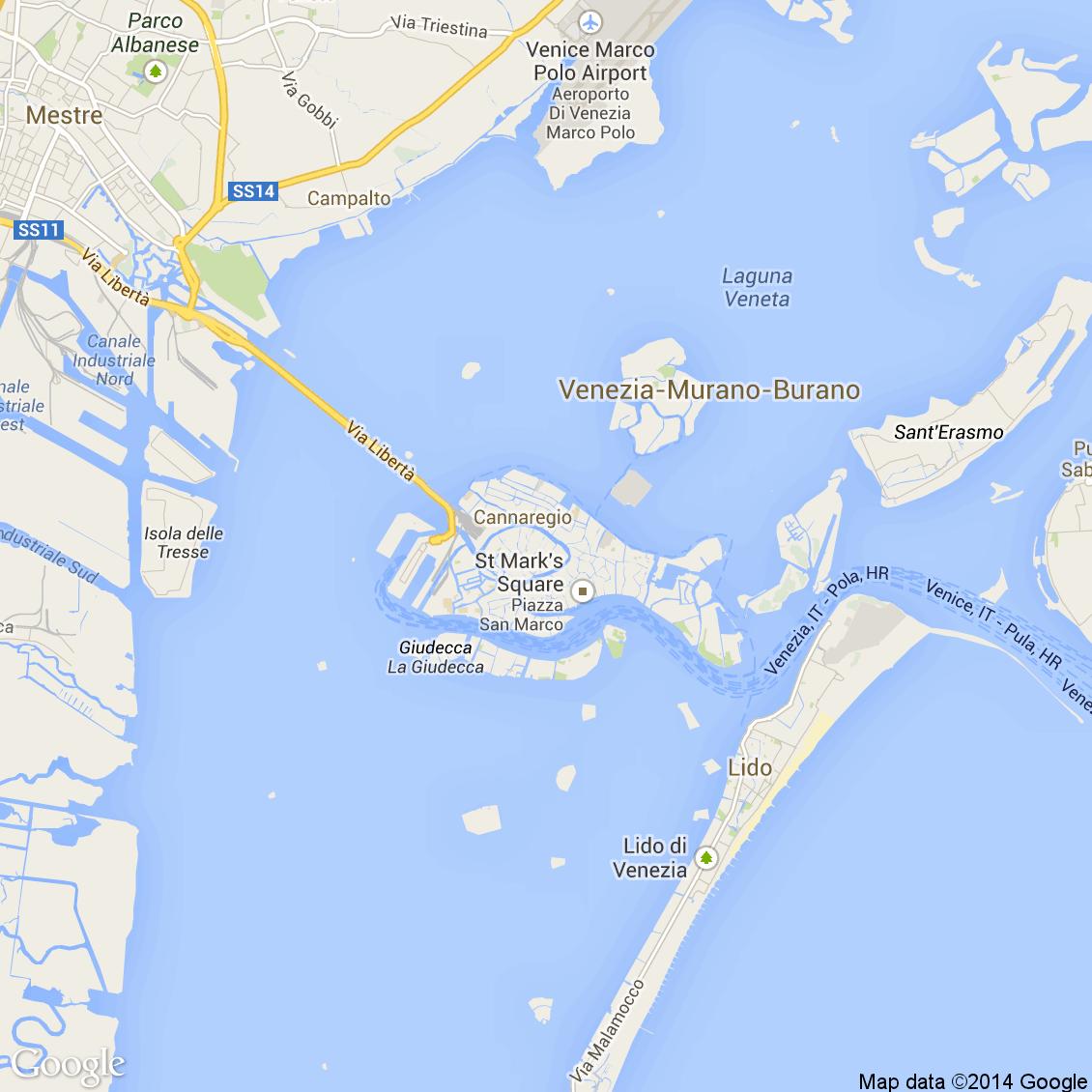 Cartina Venezia Lido.Foto Dall Alto Delle Strade Del Comune Di Venezia Media E